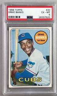 1969 Topps Baseball Ernie Banks Card PSA 6
