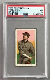 T206 Sovereign 150 Subjects Baseball Series, Tom Jones,