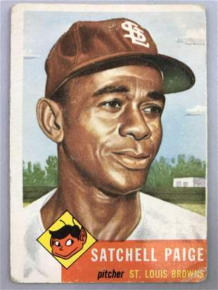 1955 Topps Baseball Card Satchell Paige #220