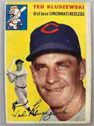 1954 Topps Baseball Card Ted Kluszewski #7
