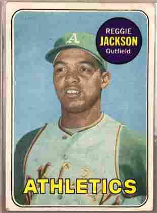 1969 Topps Baseball Card Reggie Jackson #260 Rookie