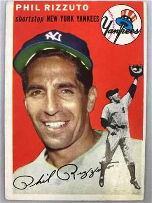 1954 Topps Baseball Card Phil Rizzuto #17