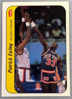 1986 Fleer Sticker Patrick Ewing #6