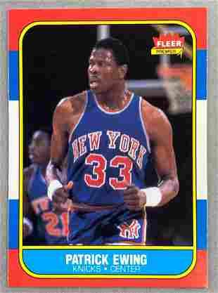 1986 Fleer Patrick Ewing #32 Rookie Card