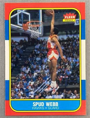 1986 Fleer Spub Webb #120 Rookie Card