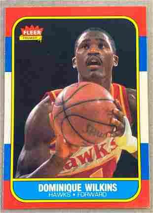 1986 Fleer Dominique Wilkins #121 Rookie Card