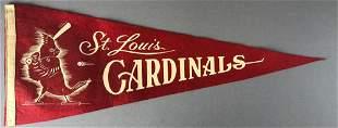 1930's-40's St Louis Cardinals Pennant