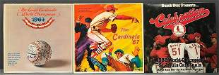 Group of 3 St. Louis Cardinals Record Albums
