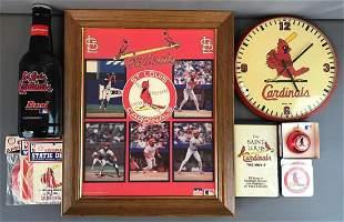 Group of St. Louis Cardinals Memorabilia