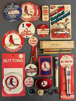 Large group of St Louis Cardinals Memorabilia