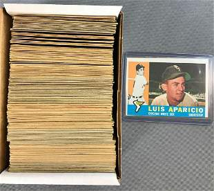 1960 Topps Baseball Cards Partial Set of 224 Cards