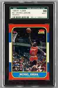 1986 Fleer Basketball Complete Set Michael Jordan SGC