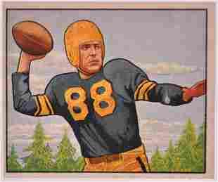 1950 Bowman Pittsburgh Steelers James Finks Football