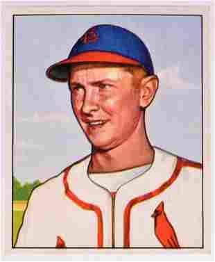 1950 Bowman St. Louis Cardinals Al Schoendienst