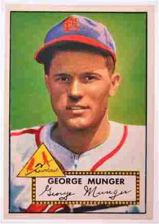 1952 Topps St. Louis Cardinals George Munger Baseball