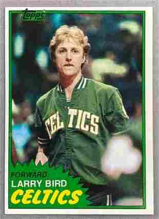 1981 Topps Larry Bird #4 Basketball Card