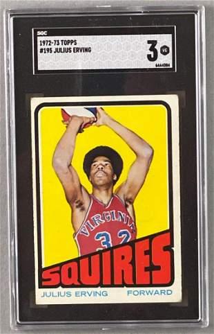 1972-73 Topps Julius Erving #195 Rookie SGC 3