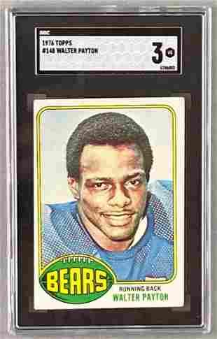 1976 Topps Walter Payton #148 Rookie SGC 3