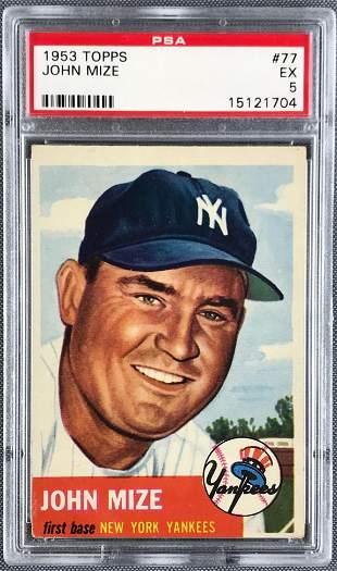 1953 Topps Baseball John Mize PSA 5