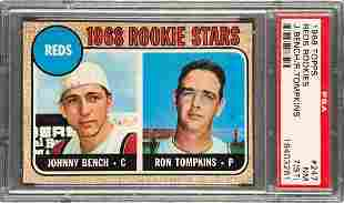 1968 Topps Reds Rookies Johnny Bench #247 PSA 7