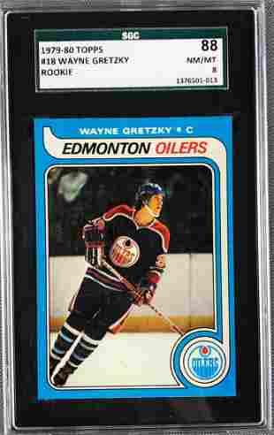 1979-80 Topps Wayne Gretzky Rookie Hockey Card #18 SGC