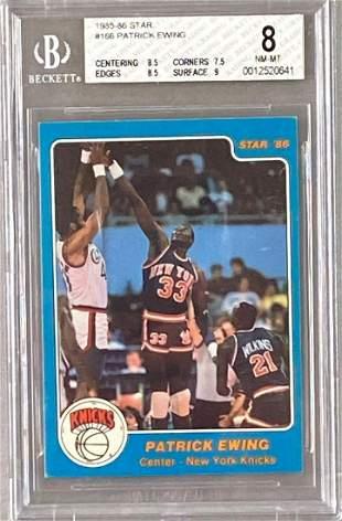 1985-86 Star Patrick Ewing #166 Rookie BGS 8