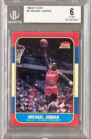 1986-87 Fleer Michael Jordan #57 Graded Card
