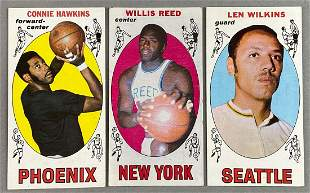 Group of 25 Different 1969-70 Topps Basketball Cards