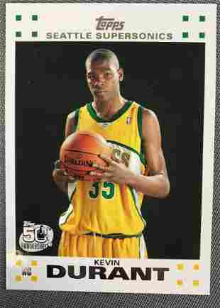 2007 Topps Kevin Durant #2 Rookie Basketball Card