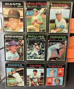 1971 Topps Baseball Cards Partial Set