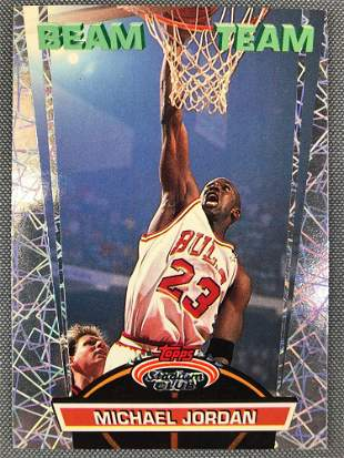 1993 Topps Beam Team Michael Jordan Basketball Card