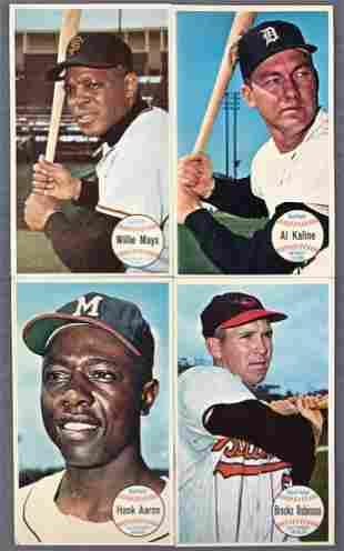 Group of 4 1964 Topps Giants Baseball Cards