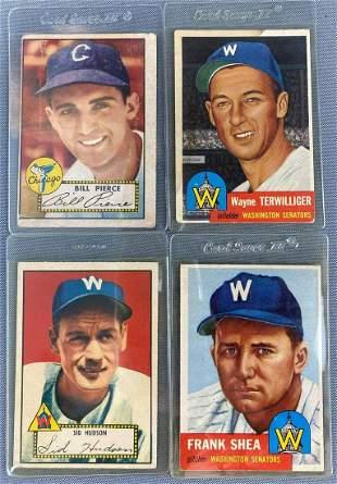 Group of 18 1950s Topps Baseball Cards