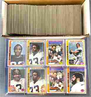 Group of Topps Football Trading Cards