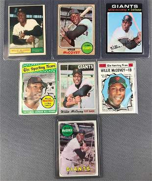 Group of 7 Topps Willie McCovey Baseball Cards