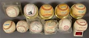 Group of 11 Baseballs
