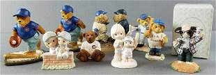 Group of Chicago Cubs figurines