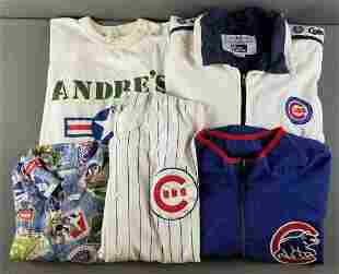 Group of Chicago Cubs shirts and jackets