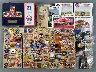 Group of baseball lapel pins