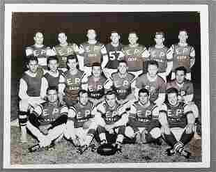 Elvis Presley football team photograph