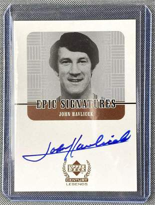 1999 Upper Deck John Havlicek Signed Card