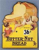 Butternut Bread advertising Cardboard price sign