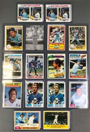 Group of 16 Topps George Brett Baseball Cards