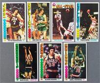 Group of 7 1969 Topps basketball cards