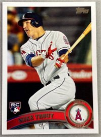2011 Topps Mike Trout #US175 Rookie Card