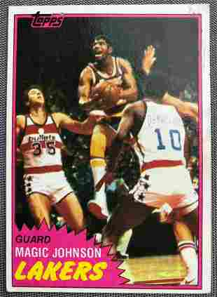 1981 Topps Magic Johnson #21 Basketball Card