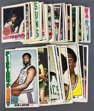 Group of 73 Topps Basketball Cards 1970s and 80s