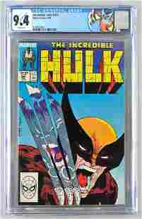CGC Graded Marvel Comics Incredible Hulk No. 340 comic