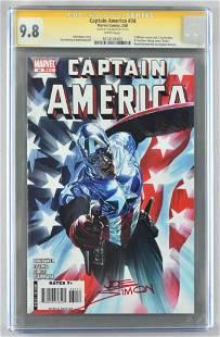 Signed CGC Graded Marvel Comics Captain America No. 34