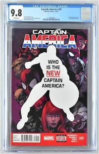 CGC Graded Marvel Comics Captain America No. 25 comic